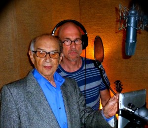 Outcry_holocaust_memoirs_audio_recording_in_hollywood_studio