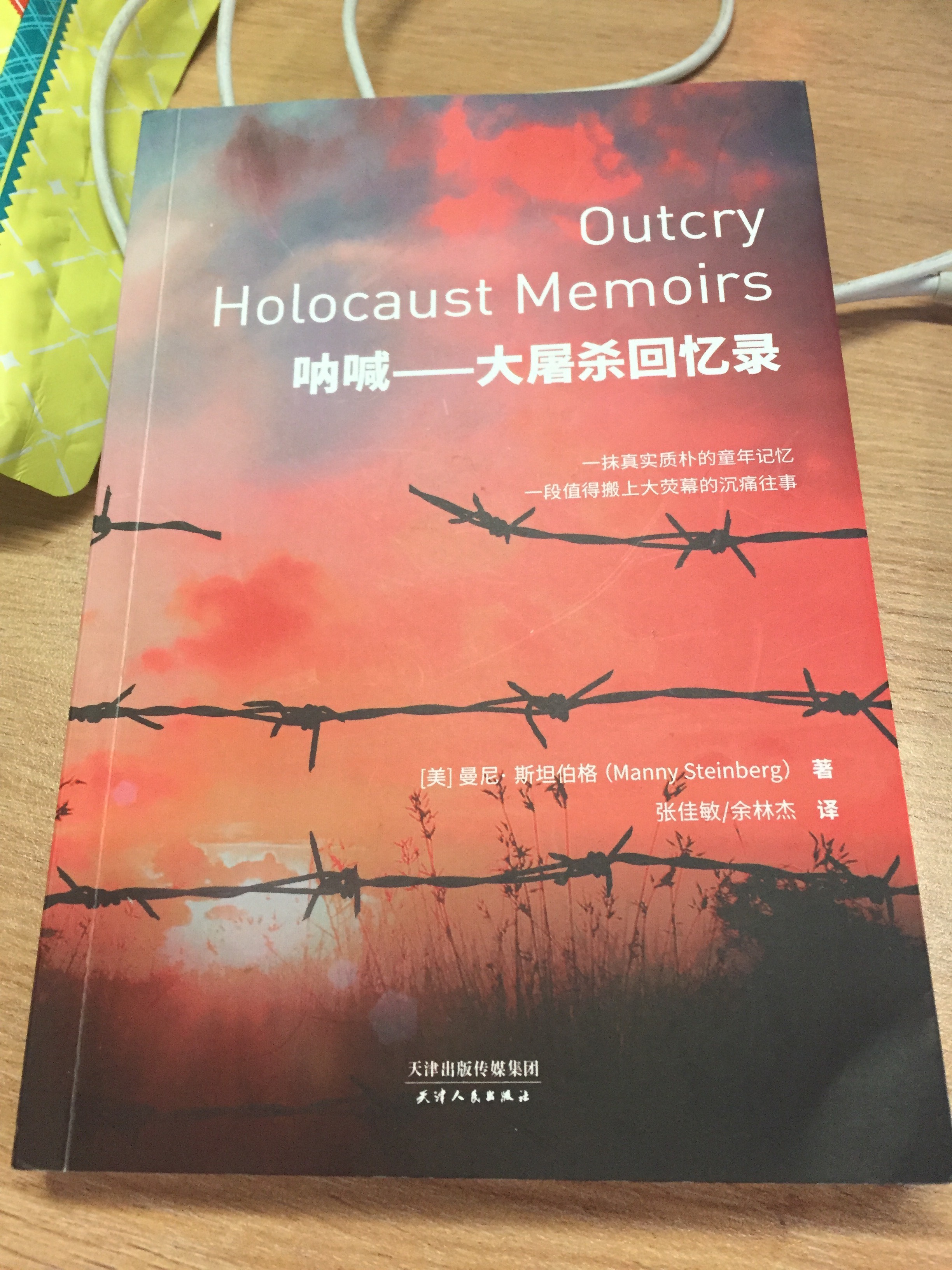 Outcry_holocaust_memoirs_manny_steinberg_chinese_paperback