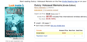 Outcry_holocaust_memoirs_free_on_amazon