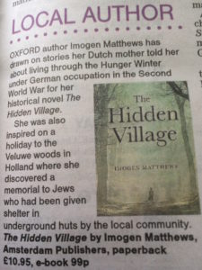 The Hidden Village by Imogen Matthews in Oxford Times