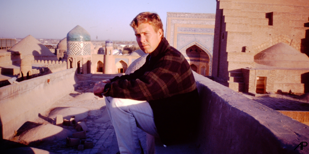 Author Bruce McLaren at Khiva in 1997